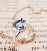 Petite Heart Blue Topaz Solitaire